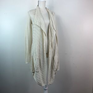 Anthro Angel of the North Mixed Knit Long Cardigan